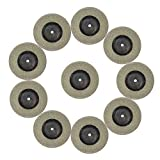 Diamond Grinding/Cutting Wheel, 50mm 1.9 inch (10pcs Discs+2shank), Blade Wheel Disc Rotary Tool for Dremel