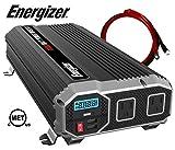 ENERGIZER 2000 Watt 12V Power Inverter, Dual 110V AC Outlets, Automotive Back Up Power Supply Car Inverter, Converts 120 Volt AC with 2 USB ports 2.4A Each