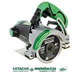 Metabo HPT Masonry Saw, Dry Cut, 4' Diamond Blade, 11.6-Amp Motor, 1-3/8' Max Cutting Depth, Cuts Pavers, Concrete, Tile & More (CM4SB2)