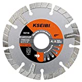 Kseibi 642146 Premium Wet Diamond Saw Blade 4 1/2 Inch Turbo Rim T Type Tile Cutting Tools For Concrete Masonry Granite Porcelain Stone Ceramic Brick Cutting Wheels For Angle Grinder Tool