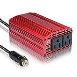 BESTEK 300W Power Inverter DC 12V to 110V AC Car Inverter with 4.2A Dual USB Car Adapter