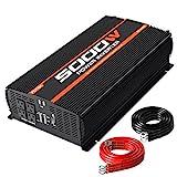 POTEK 5000W Power Inverter 4 AC Outlets 12V DC to 110V AC Car Inverter with 2 USB Port
