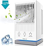 Be1 2019 New Mini Personal Air Conditioner Fan, Evaporative Air Cooler for Desktop Cooling, USB Table Fan with 3 Speed Settings, Ultra Quiet Mini Humidifier with 550ml Capacity for Home, Office