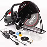 XtremepowerUS Electric 14' Cut Off Saw Wet/Dry Concrete Saw Cutter Guide Roller with Water Line Attachment 2800W (with 14' Blade)