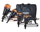 Freeman P4FRFNCB Pneumatic Framing & Finishing Combo Kit with Canvas Bag (4Piece) Nail Gun Set with Framing Nailer, Finish Nailer, Brad Nailer, & Narrow Crown Stapler