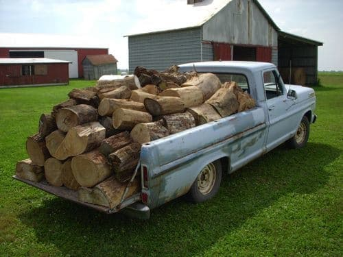 truckload of cord of wood