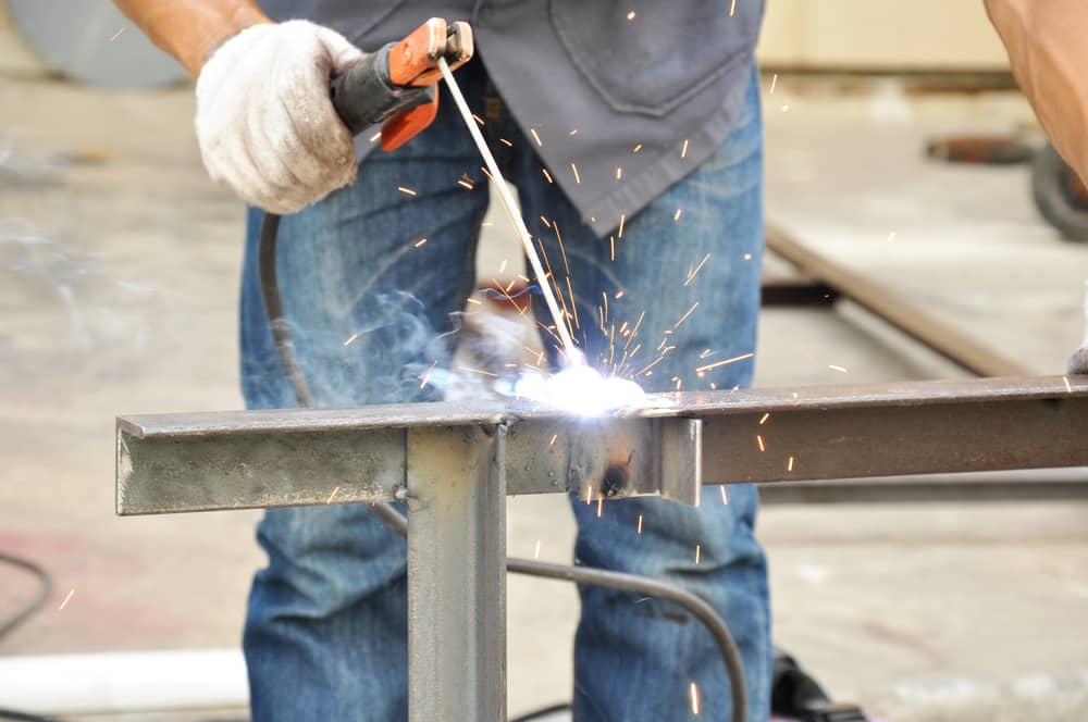 Stick-welding